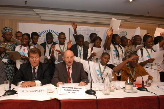 Assemblée nationale - Parlement francophone des jeunes - Paris 2009