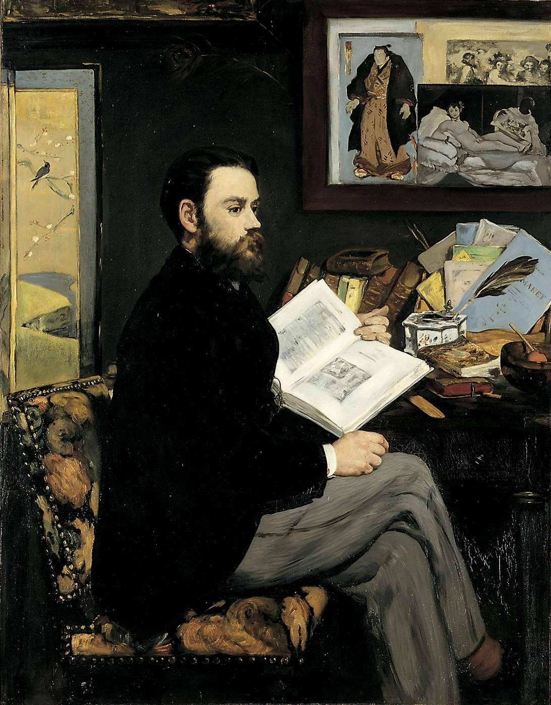Zola par Manet