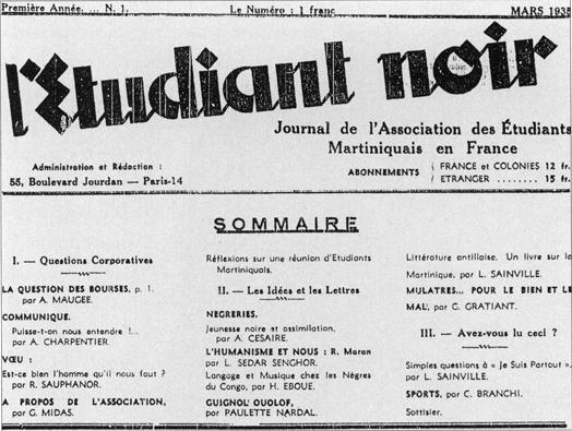 Dissertation Sur La Poesie De La Negritude