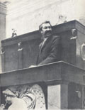 Aristide Briand à la tribune de la Chambre des députés