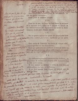 Constitution de 1791 annotée par Robespierre