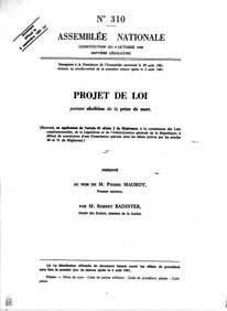 Dissertation sur la peine de mort en anglais