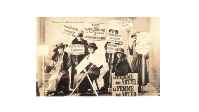 groupe de suffragettes