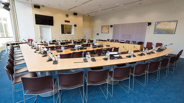 Salle de la commission de la défense - octobre 2018