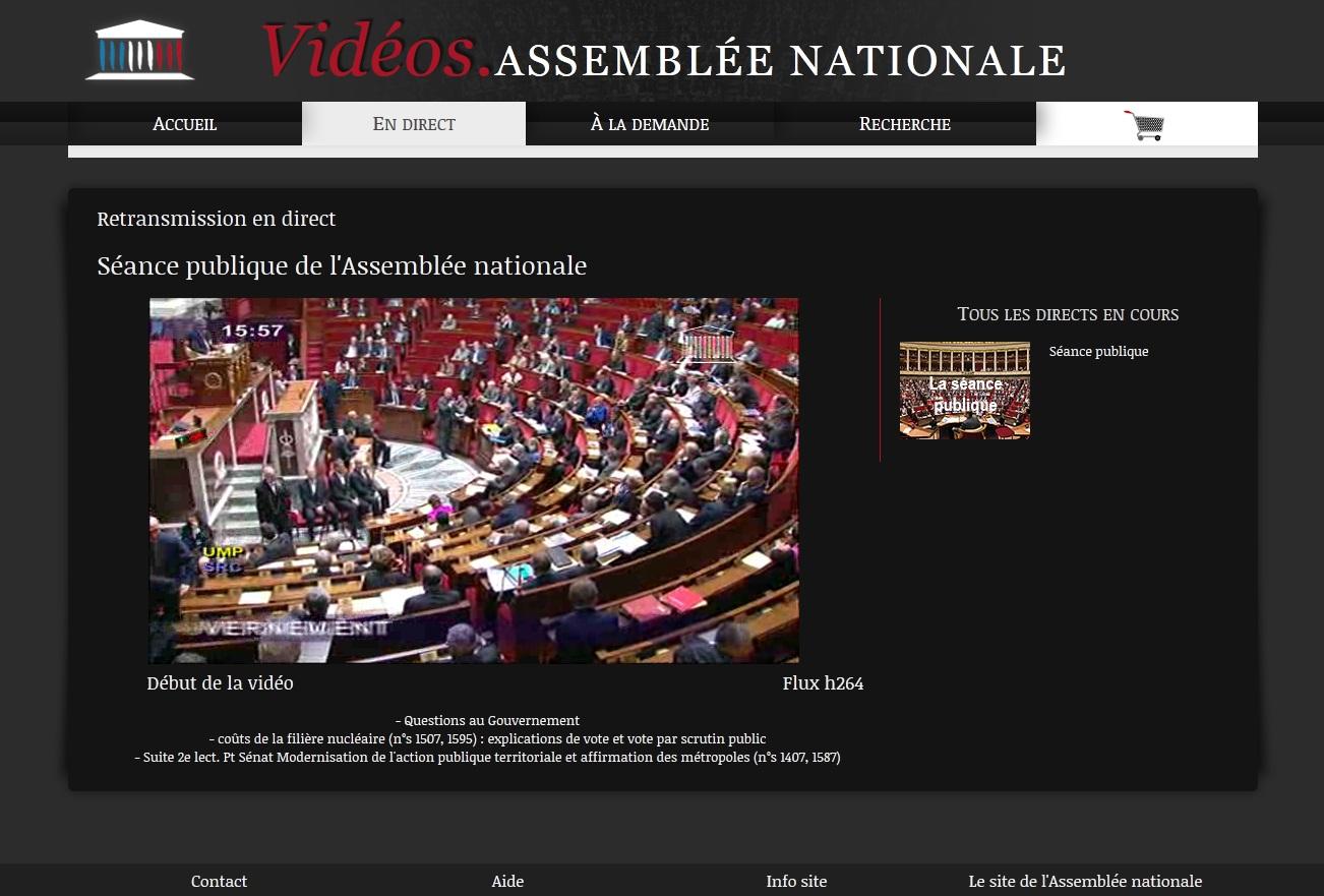 Le portail vidéo de l'Assemblée nationale